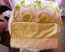 Dunelm Small Bed End Throw & 2 x Cushions Lime/Green