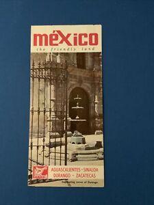 Mexico Aguascalientes-Sinaloa-Durango-Zacatecas..Vintage Brochure
