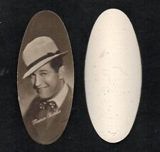 Maurice Chevalier 1934 Carreras Film Stars Oval Cigarette Card #49