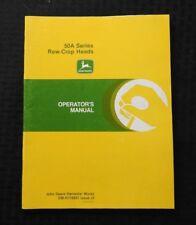 John Deere 6600 7700 4420 6620 7720 8820 Combina 50A Row-Crop Cabeza Manual