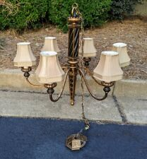 Fine Art Lamps Chandelier - with 6 FAL shaded lamps