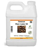 Jamaican Black Castor Oil 32 oz - PREMIUM QUALITY 100% Pure Natural Hair Growth