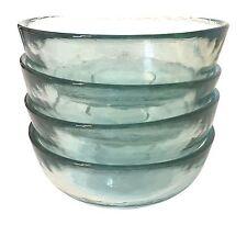 100% Recycled Glass Bowls (Set of 4) Cereal, Salad, Dessert Vintage Style 11.7oz