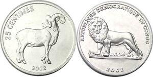elf Congo Democratic Rep 25 Cent 2002  Sheep Ram