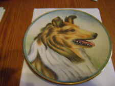 "9"" Veneto Flair Rough Collie Lassie Dog Plate by V. Tiziano 1975 -  Coa included"