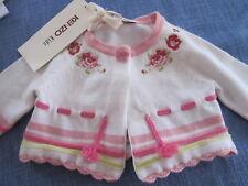 Exclusives Baby-Jäckchen von Kenzo kids Gr. 54  1 M  weiß mit rosé Rosenmuster