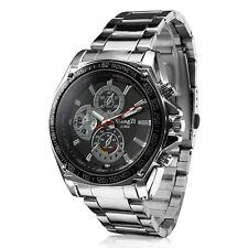 WEIDE Men's Watch Business Style Multi-Functional Dual Time Zones Waterproof