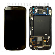 Gray Galaxy S3 i747 T999 LCD Touch Screen Digitizer Assembly + Frame NO LOGO USA