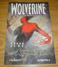 "Wolverine: Inner Fury #1 VF/NM signed by bill sienkiewicz as ""frank miller"""
