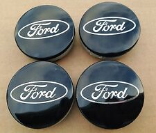 NEW 4Pcs FORD BLACK CENTER WHEEL HUB CAPS EMBLEM COVER CAP CP9C-1A096-AA