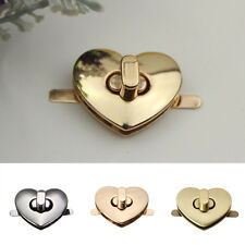 Heart Shape Alloy Lock Catch DIY Turn Lock Twist Buckle For Handbag Bag Case