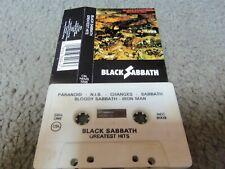 Black Sabbath Greatest Hits Cassette Tape 1977 CANADA Import Paranoid War Pigs!