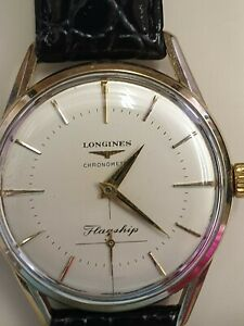Gents Longines Chronometer 1957 Flagship gold plated watch in full working order