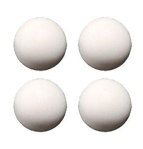 Strikeworth 34mm White Table Football Balls (pack of four)