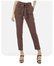 New NWT Express High Waisted Paperbag Ankle Pant Womens 12 Short Reg $69.99 (36)
