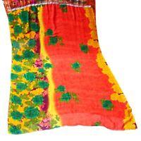 Printed Floral Dress Sari Women Craft Fabric Sewing Georgette Home Decor Saree