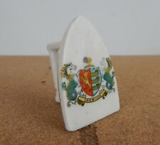 Crested Ware Clothes Iron Ipswich Crest 7 cm tall