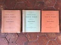 lot 3 vol Commission Municipale du VIEUX PARIS séances Procès-verbaux 1909-1911