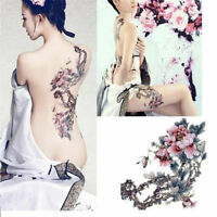 New Large Removable Stickers Body Temporary Tattoos Waterproof -- Flower Tree