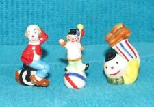 Vintage Bug House Lot of 3 Different Miniature Clowns, New Old Stock