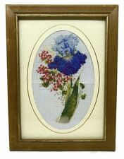 A rose Antique Tapestry Needlepoint, Handmade wooden frame