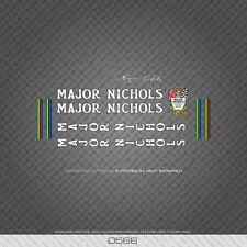 Decals Transfers 0578 Major Nichols Bicycle Frame Stickers