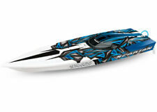 Traxxas Spartan Brushless BL TQi TSM RC BOAT - w/o Battery & Charger Blue-X