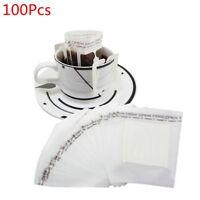 100 Pcs Portable Drip Coffee Powder Filter Paper Hanging Ear Drip Bag Filter