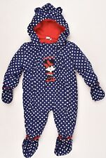 DISNEY Toddlers' Baby Girls' Winter Overall Snowsuit, Polka Dot Blue, 18 months