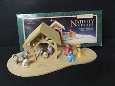Hallmark Merry Miniatures Nativity Gift Set Complete with Original Box
