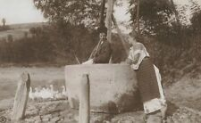 RPPC,Romania,Man & Woman at a Well,Costumes,c.1909