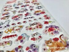 Cute Kawaii Stickers Cat Puffy Deco Diary Journal Scrapbook Planner Supplies