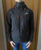 The North Face Gore Tex Black Red Hooded Mountain Shell Jacket Size- Small