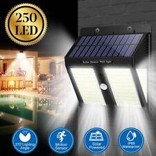 250 LED Solar Motion Sensor Lights Outdoor Garden Security Wall Lamp Floodlight