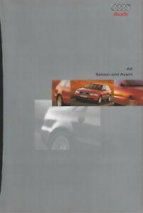 Audi A4 Saloon & Avant UK Market Brochure August 1997 1.6 1.8T 2.4 2.8 V6 1.9TDI
