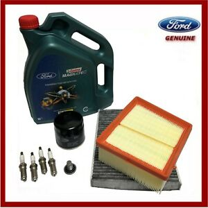 Genuine Ford Fiesta Mk7 1.25 Service Kit Oil Air Cabin Spark Plug & Castrol Oil