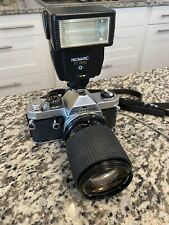 Pentax MX Film Camera with Tokina 35-105mm Zoom and Flash. Meter Works