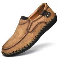 Segelschuhe Herren Mokassins Schuhe Leder Halbschuhe Slipper Loafers Lederschuhe