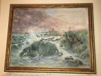 Walter Shirlaw Original Painting, Oil on Canvas, Signed, Framed, Seascape