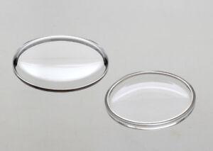 neues Kunststoff-UHRENGLAS f. AU / CHROM armiert 16 - 34 mm DurchmesserAUSWAHL