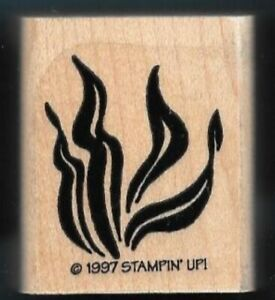 WATER PLANT SEA LAKE POND LIFE Landscape Stampin' Up! wood mount Rubber Stamp