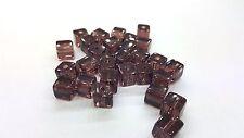 50 Pièces 6mm Perles Cube en verre cristal-Améthyste-A3058