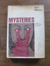 MYSTERIES by Knut Hamson - 1st  HCDJ 1971 - Nobel prize winner