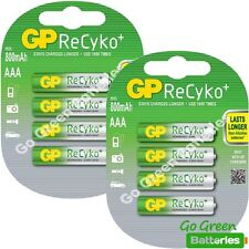 8 x GP Recyko AAA 800 mAh Rechargeable Batteries (850 mAh) NiMH LR03 HR03 Phone