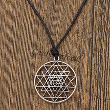 Talisman Sri Yantra Pendant Necklace Sacred Geometry Meditation Jewelry Gifts