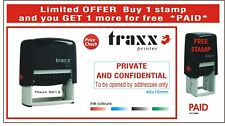 PRIVATE & CONFIDENTIAL Self Inking Rubber Stamp RED Ink Business  1 FREE STAMP