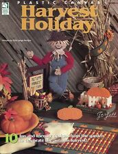 Harvest Holiday ~ 10 Fall Thanksgiving Projects plastic canvas pattern book NEW