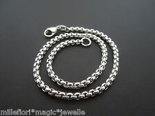 "Stainless Steel 3mm Square Belcher Bracelet Or Ankle Chain Anklet 7"" 8"" 9"" 10"""