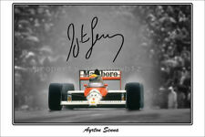 * AYRTON SENNA * Large signed poster of late Formula 1 driver! Great gift!