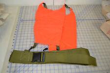 duty belt w/ orange safety panels front and back visibility hunting orange